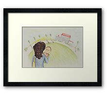 An operation in hospital Framed Print