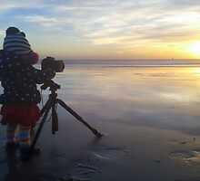 My 13 month old daughter on her 1st sunset photo shoot by willgudgeon