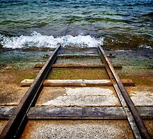 Railway meeting water by Luigi Masella