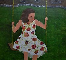 Little Southern Belle on a Swing by towncrier