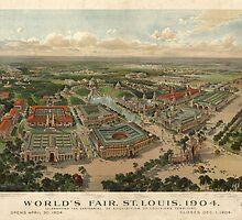St. Louis World's Fair 1904 Map (Large) by caljaysoc