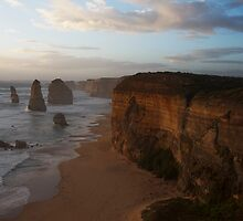Sunset over the Twelve Apostles 2 by Al Russell