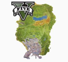 GTA V Map by Rob DelZotto