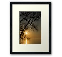The Rising Sun and the Tree Framed Print