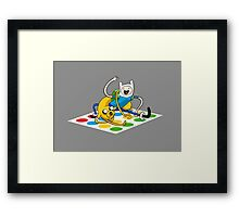 Adventure Time Twister Framed Print
