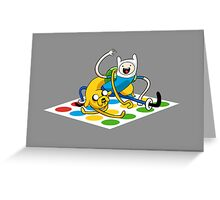 Adventure Time Twister Greeting Card
