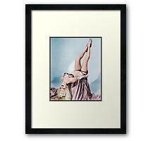 Burlesque - ish vintage model Colorized Framed Print