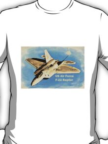 US Air Force F-22 Raptor Manga T-Shirt T-Shirt