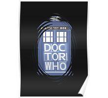 wibbly wobbly timey wimey TARDIS Poster