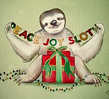 Christmas Sloth by Sarah  Mac