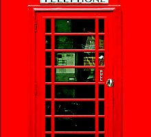 British red public payphone by Johnny Sunardi