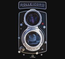 Vintage Classic Retro Blue Rolleicord dual lens camera by Johnny Sunardi