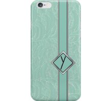 1920s Blue Deco Swing with Monogram letter Y iPhone Case/Skin