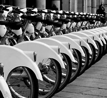 Bike station in Milan B/W by fcristini