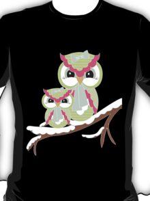 Two Owls for Christmas .. tee shirt T-Shirt