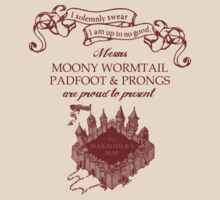 Marauders Map - Messrs Moony, Wormtail, Padfoot & Prongs by LovelyOwls
