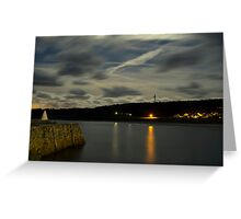 Douglas Quay & Braye at night Greeting Card