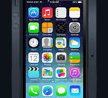 Iphone 5 IOS 7 (Black) by masxxi