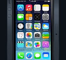 Iphone 5 IOS 7 (Black) by masxxi