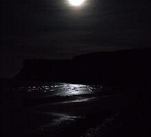 Quiet Moon over Saltburn - Ship Inn  by Debra Kurs