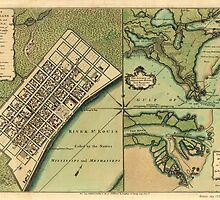 Plan of New Orleans 1759 by caljaysoc