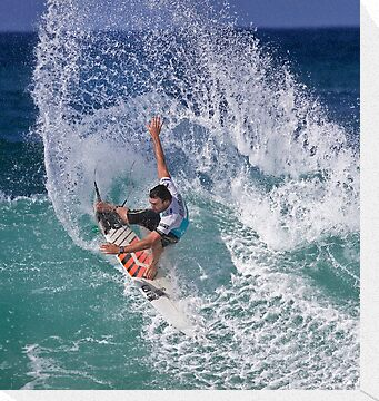 Joel Parkinson 2 At 2010 Billabong Pipe Masters In Memory Of Andy Irons by Alex Preiss