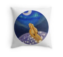 Watching the Moon Throw Pillow