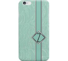 1920s Blue Deco Swing with Monogram letter Z iPhone Case/Skin
