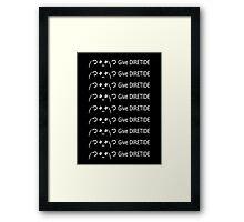 Give DIRETIDE Framed Print