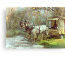 The River Crossing Canvas Print