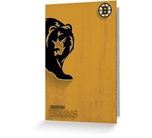 Boston Bruins Minimalist Print Greeting Card