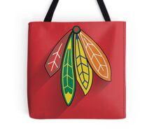 Chicago Blackhawks Minimalist Print Tote Bag