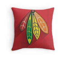 Chicago Blackhawks Minimalist Print Throw Pillow