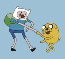 Dacing Jake and Finn by Kirdinn