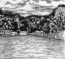 'LAKE WYLIE (VIEW FROM THE BOATHOUSE)' by Jerry Kirk