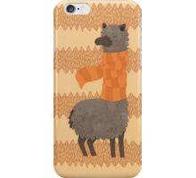 Llama In A Scarf Keeping Warm iPhone Case/Skin