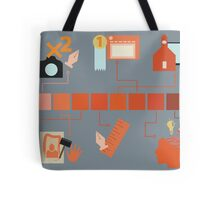 My Life as an Artist: An Infographic Poster Tote Bag