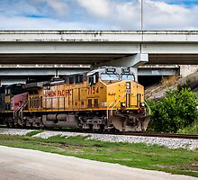 Train Under Bridge by Craig  Bellinger Photography