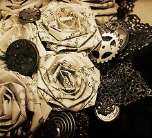 Steampunk Paper Roses will Never Fade by Lisa Knechtel