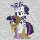 Princess Rarity and Twilight the Clever by MyLittleLindsay