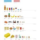 Fancy a Byte?: Food Pixel-Art Infographic by SeverinoR