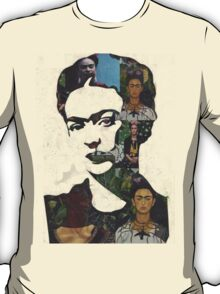 Frida Kahlo Paintings and Photographs Mix T-Shirt