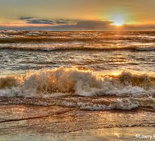 Rough Waters at Sunset by BarbL