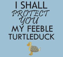 I SHALL PROTECT YOU MY FEEBLE TURTLEDUCK by avatarem