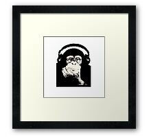Headphones Chimp Framed Print