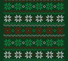 Ugly Christmas Flowers Sweater by machmigo