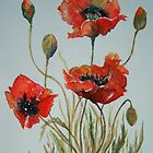 'Poppies' by fi-ceramics