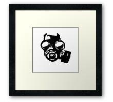 GasMask Framed Print