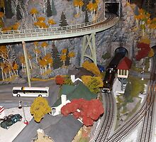 Model Trains, Model Buildings, New York Transit Museum Annex Train Show, Grand Central Terminal, New York City by lenspiro