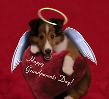 Grandparents Day Angel Sheltie by jkartlife